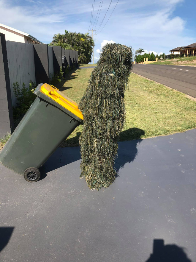 Why not take out the trash in a costume?