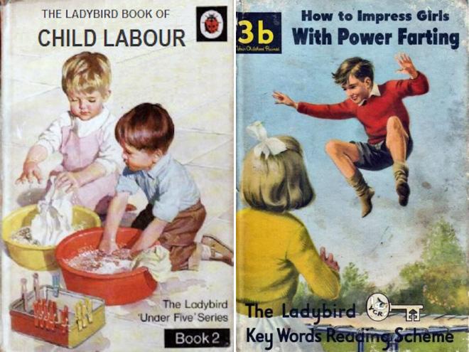 Sinister children's book parody.