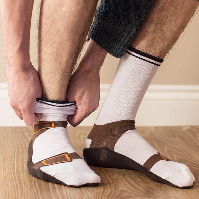 Crime against fashion: sock sandals!