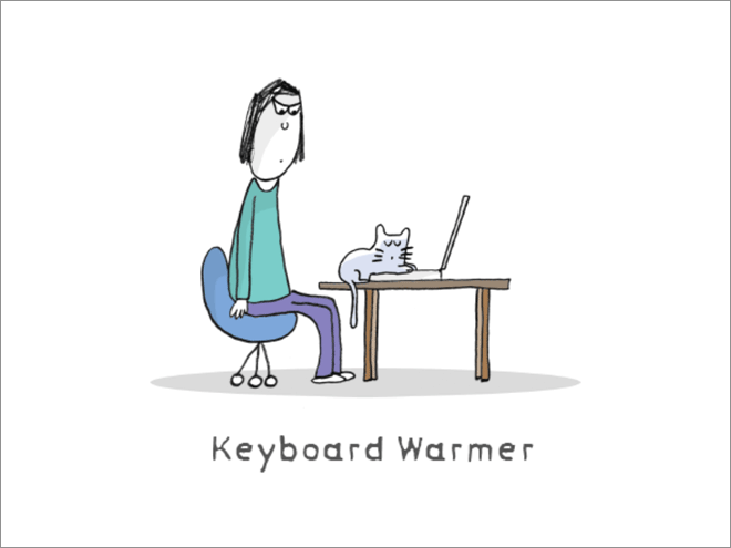 Keyboard warmer.