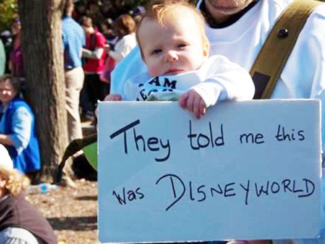 Kids make the best protest signs.
