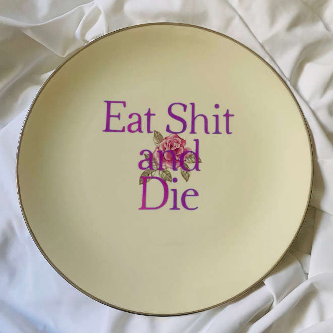 Rude plate.