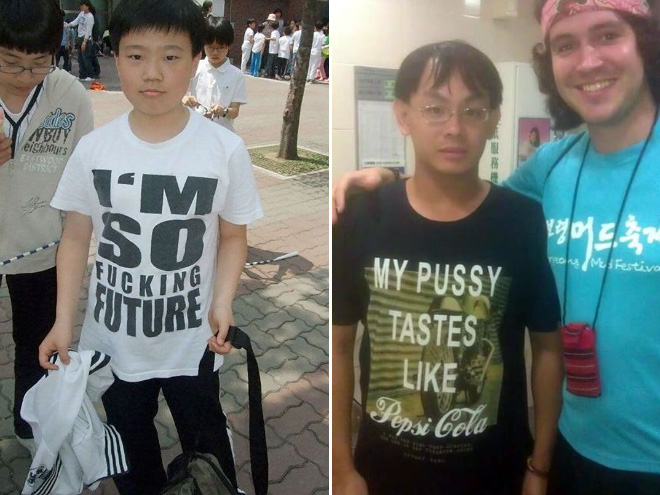 They'll wear anything in Asia...