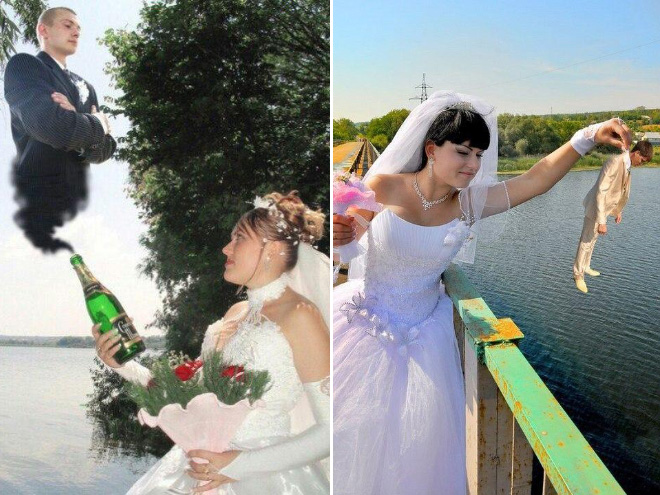 Awfully photoshopped Russian wedding pictures are awesome.