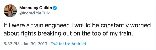 His tweets are brilliant.