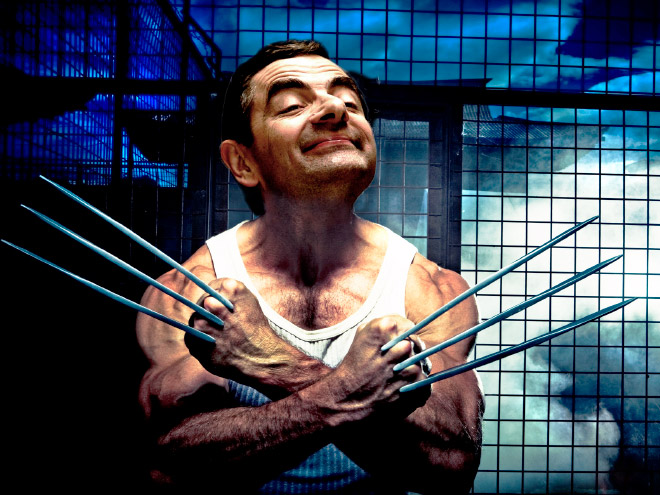 Mr. Bean meets Photoshop.