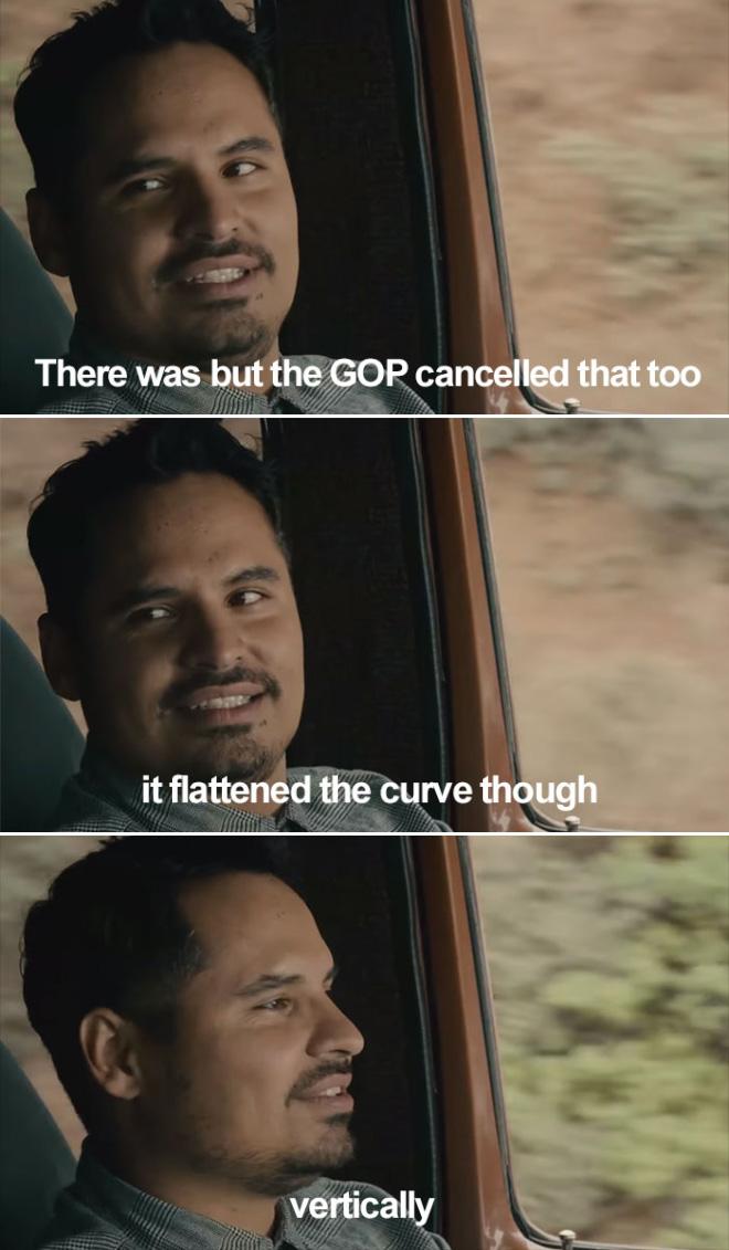 Flattened the curve, lol.