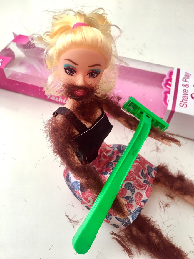 Hairy Barbie.