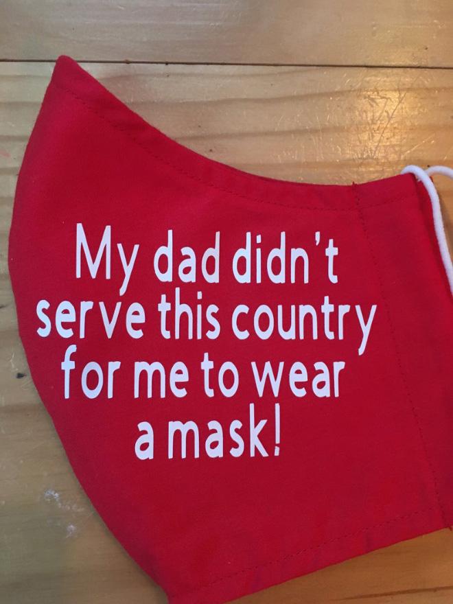 Anti-mask face mask.