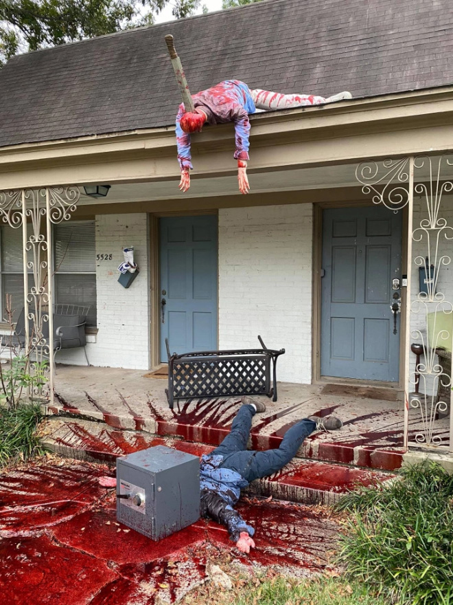 When Halloween decorations go too far...