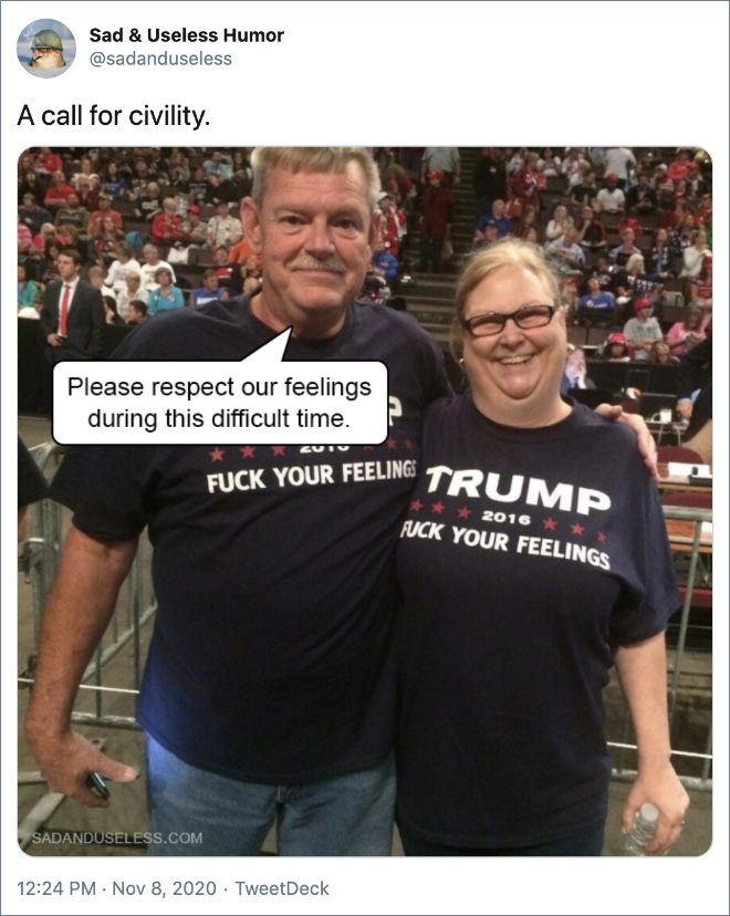 A call for civility.