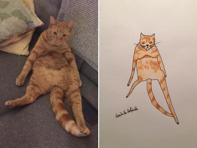 Hilariously terrible pet drawing.