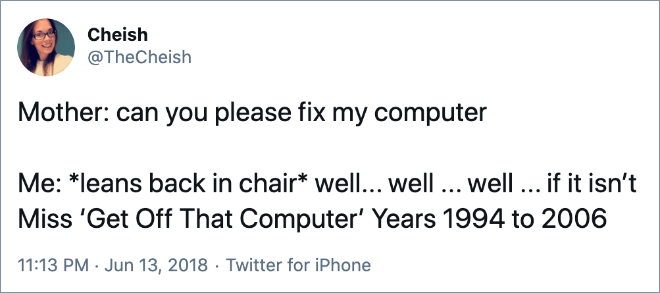 *leans back in chair* well... well ... well ... if it isn't Miss 'Get Off That Computer' Years 1994 to 2006