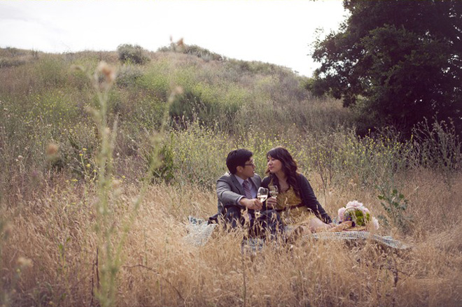 Funny engagement photos.