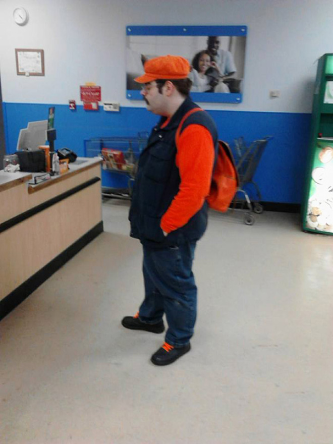 Super Mario in real life.