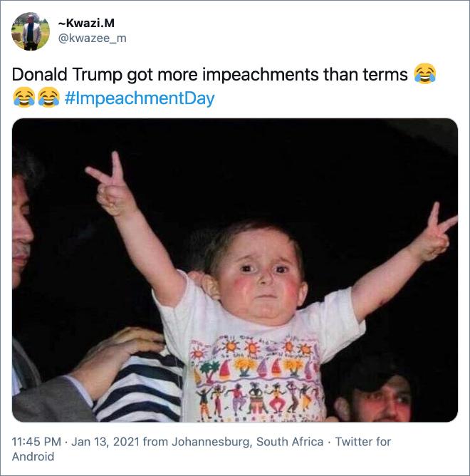 Donald Trump got more impeachments than terms