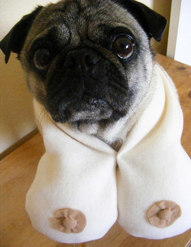 Boob scarf.