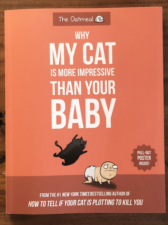 """""""Why My Cat Is More Impressive Than Your Baby"""" by Matthew Inman"""