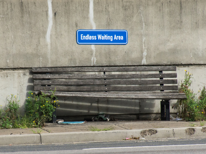 Endless waiting area.