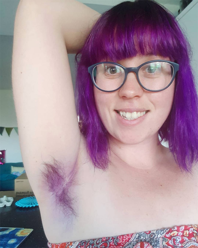 Colorful armpit hair is an actual Instagram trend.