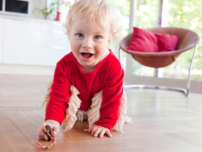 Baby Mop onesie to clean your floors.