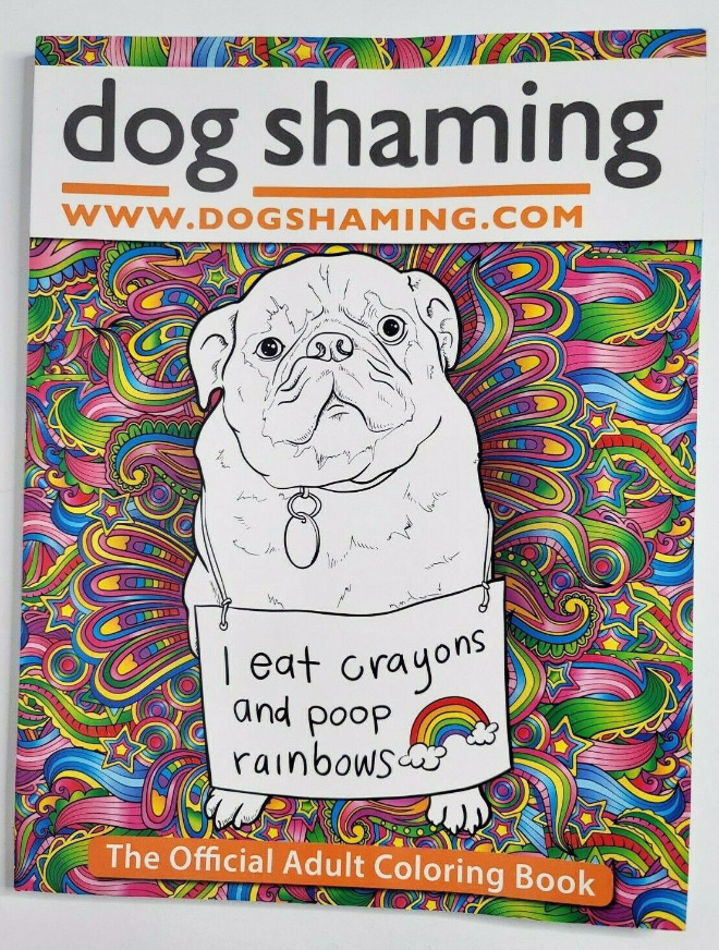 This coloring book features creative and intricate designs with entertaining Dog Shaming pics to help you relax and let go of the stressful situations in your life. 35 single-sided pages includes hilarious, aggression-relieving canines and the trouble they get into.