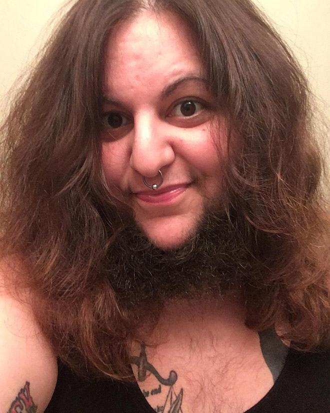 Bearded woman.