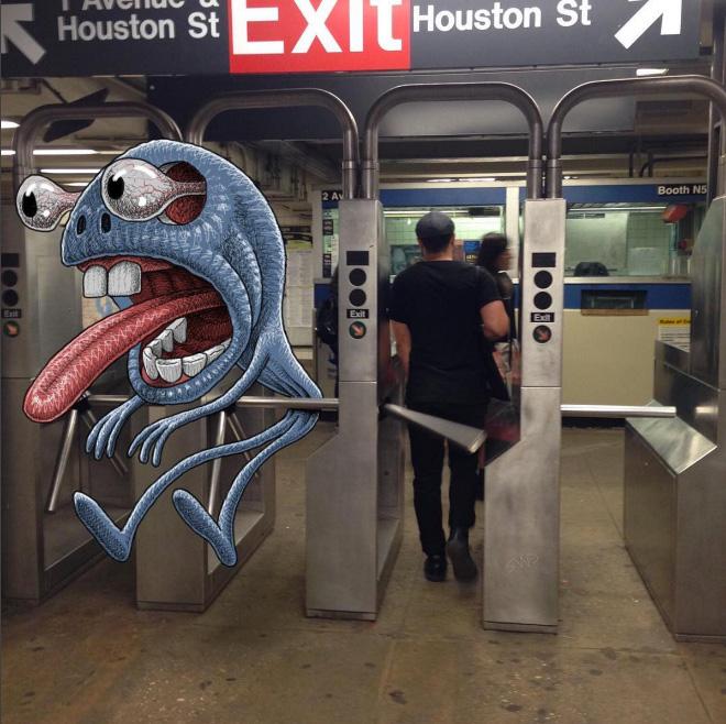 Subway monster.
