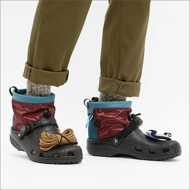 Are you man enough to fill these Crocs?